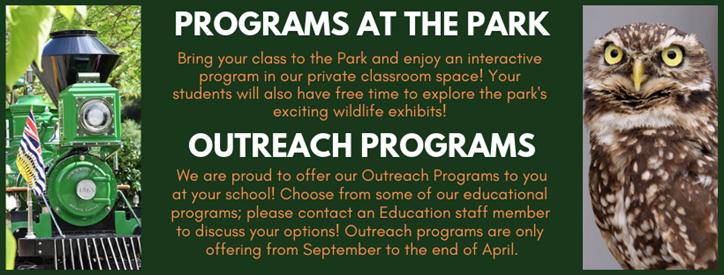 School Programs - BC Wildlife Park | It's all Happening at